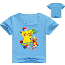 807d0f8ca DLF 2-16Y Kids Pokemon Tshirt Pikachu Costume Teenagers Boys Summer Short  Sleeve Tees Baby Girls Tops Clothes Children T-shirt
