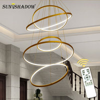Modern LED Ceiling Light For Living room Dining room Kitchen Lustre Cricle Chandelier Ceiling Lamp Hanging Lamp Lighting Fixture