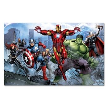 aff393c3b Marvel Comics superhéroes póster impresiones artísticas, viuda negra  Capitán América Hawkeye Hulk Iron Man Lightning Nick Fury Thor foto