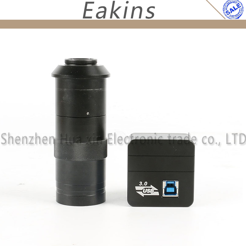 5.0MP CMOS USB 3.0 High Speed HD USB Video Microscope Camera Industry Electronic Digital Eyepiece Microscope + 100X C-mount Lens 14mp cmos hdmi usb electronic video microscope camera ccd 0 5x microscope eyepiece c mount lens for 23 2mm 30mmm 30 5mm ring