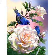 Full Square/Round Drill 5D DIY Diamond Painting Rose Bird Embroidery Cross Stitch  Home Decor Gift dispaint full square round drill 5d diy diamond painting teacup bird scenery 3d embroidery cross stitch 5d home decor a18408