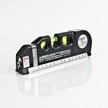 Láser profesional autonivelante, nivelador de 3 líneas, horizontal y Vertical, regla de 5,5 m, Nivel de medida multiusos, color negro