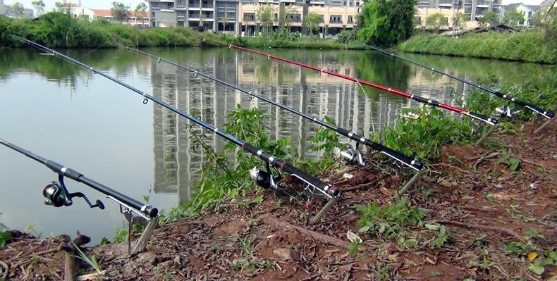 Steel Automatic Fishing Rod Mount Spring Fishing Pole