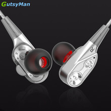 hot deal buy gutsyman gm21 pro dual dynamic driver professional in ear sport hifi earphone with 4 driver inside for ipad for mobile phones
