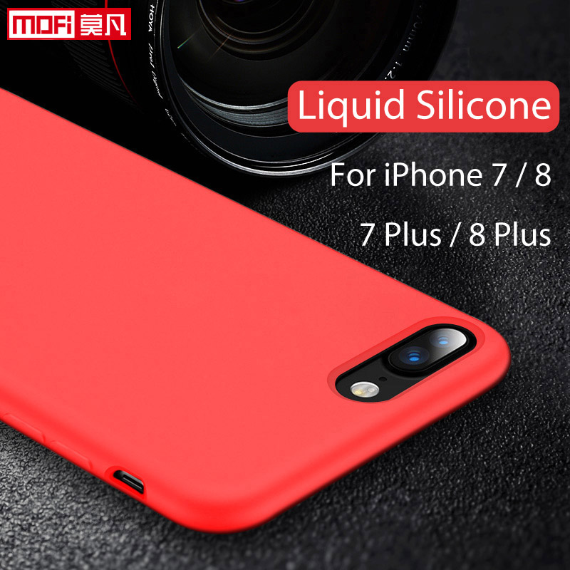 For iPhone 7 Case Liquid Silicone Gel Rubber Case Smooth Protective Mofi Official for Ap ...