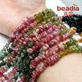 O envio gratuito de 5-8mm Natural turmalina cascalho Beads Diy Colar Pulseira Para Jóias (BTB054-99)