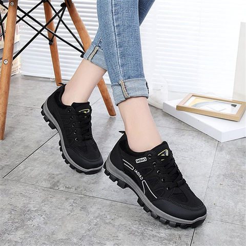 Women& Men Hiking Shoes Outdoor Sneakers Women Travel Shoes Non-slip Breathable Waterproof Sports Shoes Work Shoes Male Trekking Pakistan