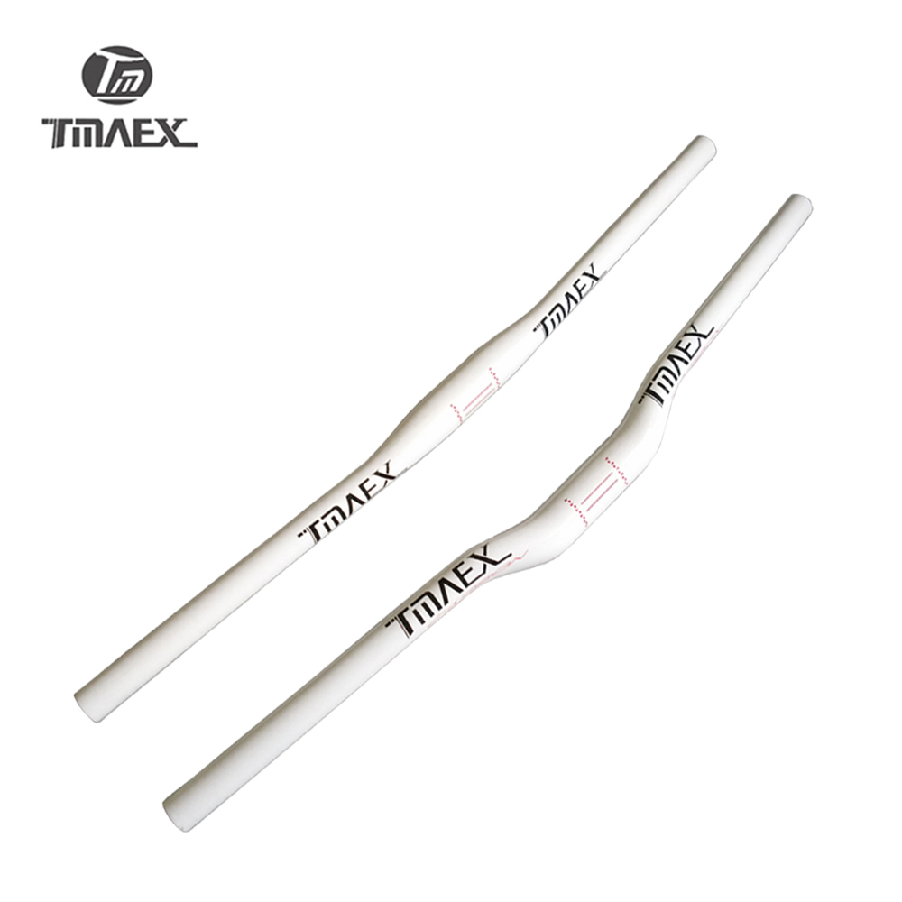 TMAEX- New Mountain Bike Carbon <font><b>Handlebar</b></font> White Paint Carbon Bicycle <font><b>Handlebar</b></font> 31.8mm*600mm-<font><b>760mm</b></font> MTB Bike Parts image