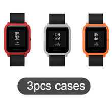 SIKAI 3 Pcs Original Watch Case Movement PC Protective Case For Xiaomi Huami Amazfit Bip Younth Colorful PC Watch Parnis Cases(China)