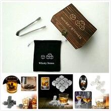 3 цвета Виски камни со словами деревянная коробка Виски камни каменный куб камень деревянная коробка Высокое качество