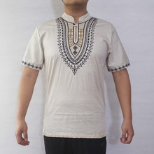 Ethnic Embroidery Men`s Dashiki Tops African Wear Male`s Folk Shirts