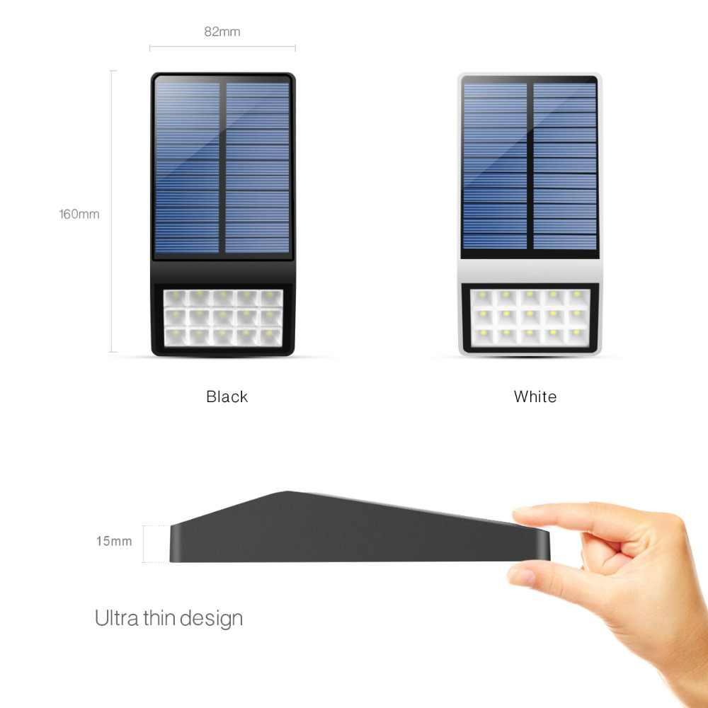 Солнечный заряд светодиодный светильник микроволновый радар Датчик Движения солнечные огни водонепроницаемые уличные садовые фонари безопасность прохода Ночник