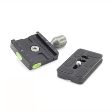 XILETU QR-50 Adapter Plate Square Clamp with Gradienter for Quick Release Plate for Tripod Ball Head