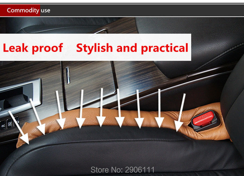Car seat gap Car leak proof pad for Renault clio megane captur logan kadjar laguna automobile modeling stickers car-styling for renault fluence latitude talisman laguna wear resisting waterproof leather car seat covers front
