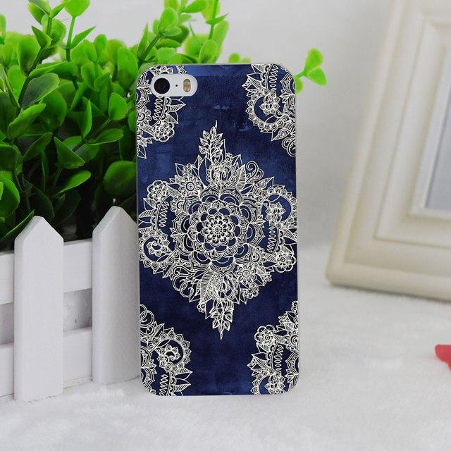 895e4cb3739 A1245 Cream Bloemen Marokkaanse Pa Hellip Transparante Harde Dunne Case  Cover Voor Apple iPhone 4 4