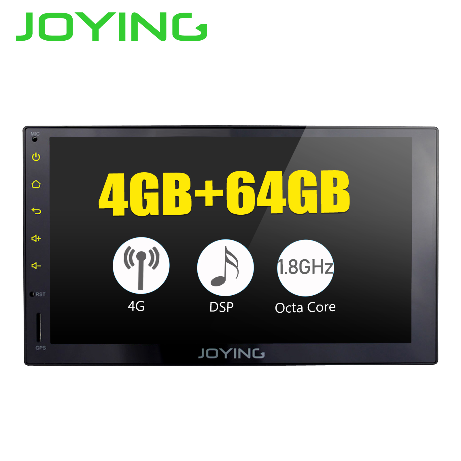 JOYING 4G RAM Android 8 1 2 Din Tape recorder Stereo 7 GPS Player Car Radio