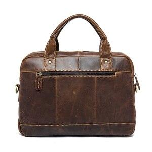 Image 3 - ชายWESTALกระเป๋าหนังแท้ชายแล็ปท็อปกระเป๋าหนังสำหรับเอกสารสำนักงานชายMessengerกระเป๋า8002