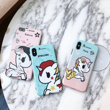 04be6ed8a4 Cute Tokidoki Unicorn Case For iPhone 7 8 Plus 6 6S Plus Case Soft Frosted  TPU