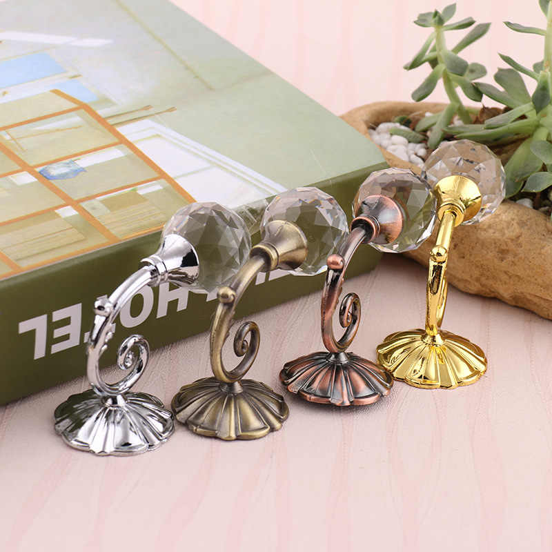 1 Pair Metal Golden curtain wall hook The Round ball Hat Coat Hanging Clasp Tulle Holder Hooks Silvery Home Accessories cp002#30