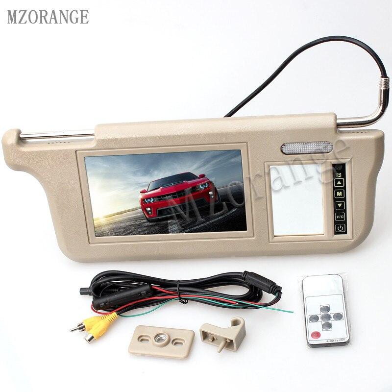 MZORANGE Tactile Contrôle 7 pouce 800 (W) xRGBx480 (H) voiture pare-Soleil De Voiture Médias Écran TFT LCD Moniteur D'affichage Moniteur Beige Gris Noir