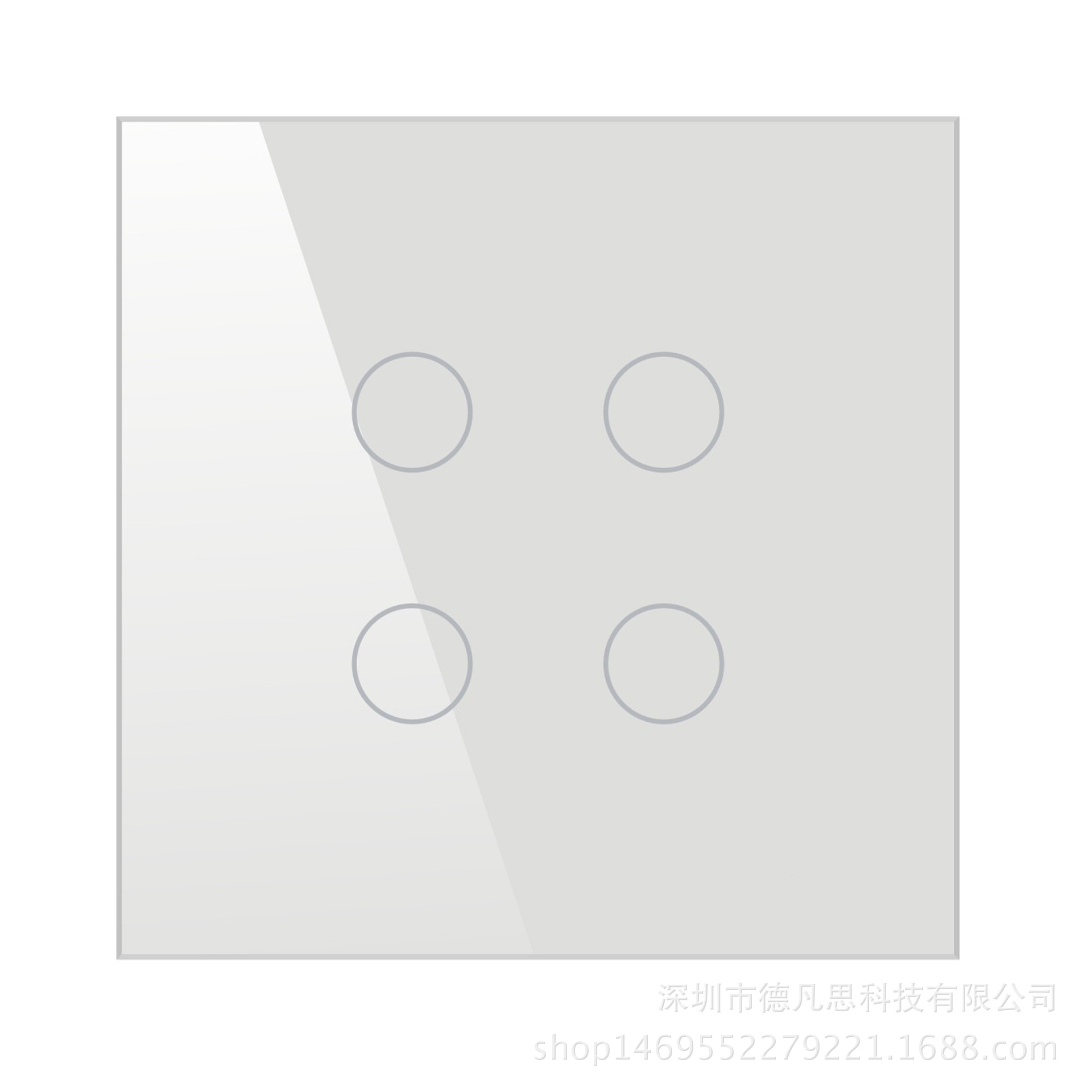 4 Line Zero FireWire Single Control Smart Switch Tempered Glass Touch Switch Simple and Beautiful Fashion Smart Home in Switches from Lights Lighting