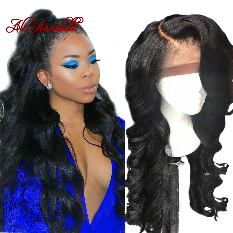 13*6 Lace Front Human Hair Wigs Pre Plucked With Baby Hair Brazilian Body Wave Human Hair Wig 180% Density Lace Front Wigs