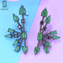 SISCATHY 2019 Charms AAA Cubic Zirconia Crystal Women Earrings Fashion African Nigerian Wedding Stud For Jewelry