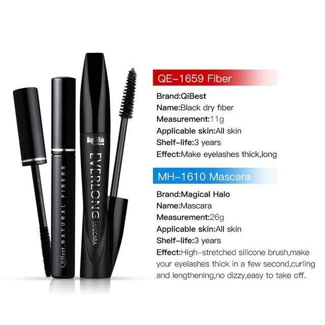 2pcs /pack QiBest Black Mascara + 3D Fiber Lash Makeup Curling ...