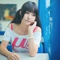 Amor En Vivo! camiseta de cosplay u Kousaka Honoka cosplay blanco y rosa vestido de verano Correas cortas camiseta de anime ropa