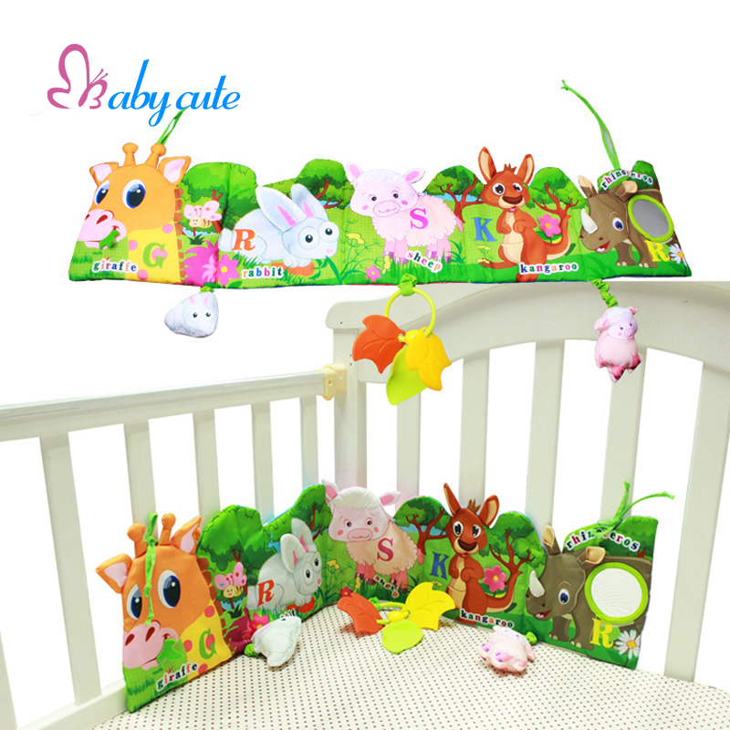 Crib Toys Learning : Baby funny mobile cloth book educational toys animal crib