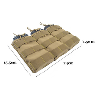 Delustered Airsoft First Spear Triple 5.56 Open Top Mag Pouch MOLLE Magazine Pouch Military Combat Hunting Tactical TW M044