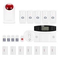 Wireless GSM Alarm System With PIR Sensor Door Contact SOS Button