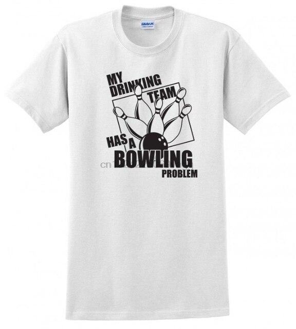 Мой drinking Team Боулинг проблема мужские мяч подарок забавные S-5XL футболка, Т-футболка