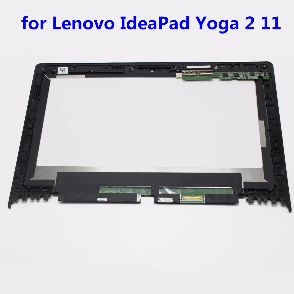 11.6 For Lenovo IdeaPad Yoga 2 11 20332/20428 Assembly LCD Screen Display+Touch Digitizer with Bezel LP116WH6 SPA1 11 6 full lcd display touch screen digitizer with frame bezel assembly for samsung xe700t1c black colors