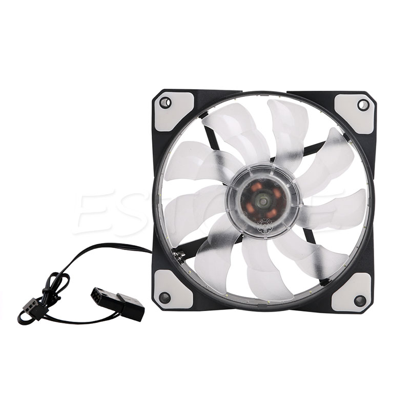 3-Pin/4-Pin <font><b>120mm</b></font> <font><b>PWM</b></font> PC Computer Case CPU Cooler Cooling <font><b>Fan</b></font> with LED Light New Design image