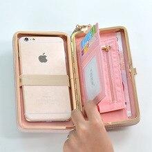 2019 Fashion Womens Wallet Snap Coin Purse Phone Bag Bow Multi-card Bit Card Holder Women Luxury Billetera Mujer Woman ha