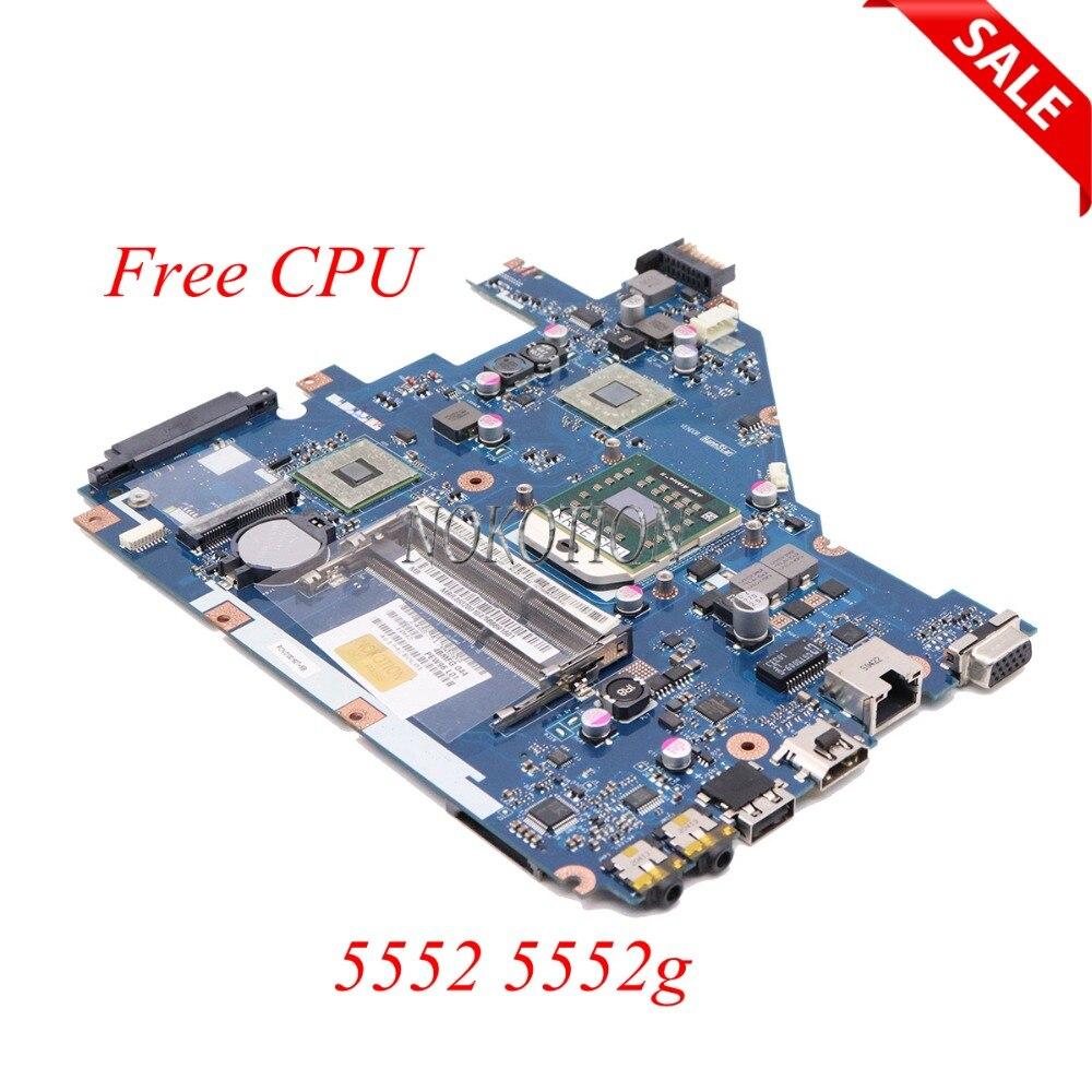 MBR4602001 ordinateur portable carte mère D'ordinateur Portable Carte Mère La Sfor Acer aspire 5552 5552g PEW96 LA-6552P OCKET S1 DDR3 carte Principale livraison cpu