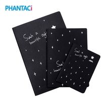 Notebook Diary Black Paper Drawing Stationery Painting Office Sketch 32K School 16K