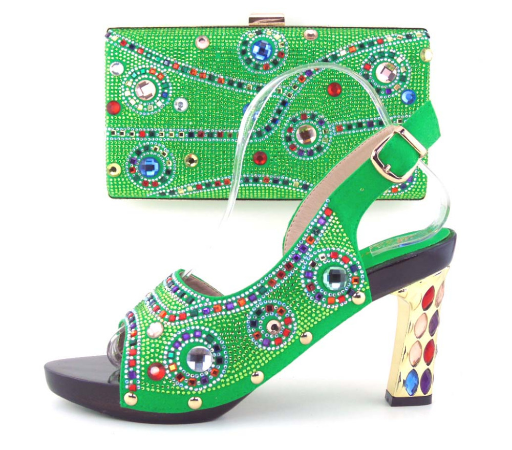 ФОТО Party Shoes And Bag Set High Quality Matching Italian Shoes And Bag Set African Shoes And Matching Bags Set For Wedding TH16-43