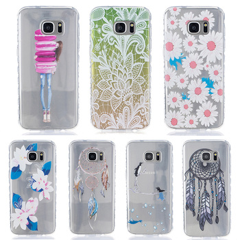 Мягкие TPU Mobile Phone Case Cover For Samsung Galaxy S7 край G935A 5.5 дюймов G935F G9350 Смартфон Вытяжки Корпус силиконовые Case