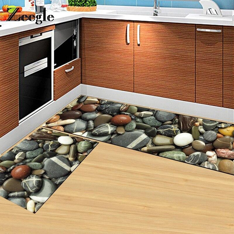 Zeegle Kitchen Mat Anti Slip Rectangle Floor Mat Home Entrance Hallway Doormat 3D Area Carpet Rugs For Living Room|Carpet| |  - title=