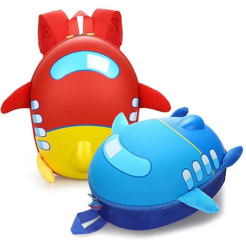 2018 3D Симпатичный Самолет Дизайн Рюкзак Дети Школьные ранцы для Обувь для девочек Обувь для мальчиков мультфильм форме детские Рюкзаки