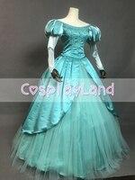 The little Mermaid Ariel Cosplay Costume Halloween Adult Princess Dresses Cosplay Mermaid Long Sleeve Skirt Lace up Party Dress
