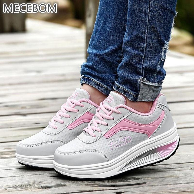 2018 N Summer Hollow Camping Flat Heel Wedge Platform Sneakers Sport women Shoes Shake loafer Zapatillas Mujer Footwear 8372W