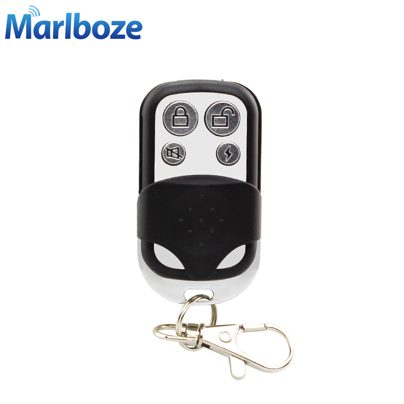 Marlboze 1pcs Wireless 433MHz Wireless keyfobs Telecontrol Metallic Metal Remote Controller for Home Security GSM Alarm System