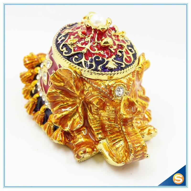 Doprava zdarma Pearl Elephant Collective Gift Box Enamel Jewelry Box