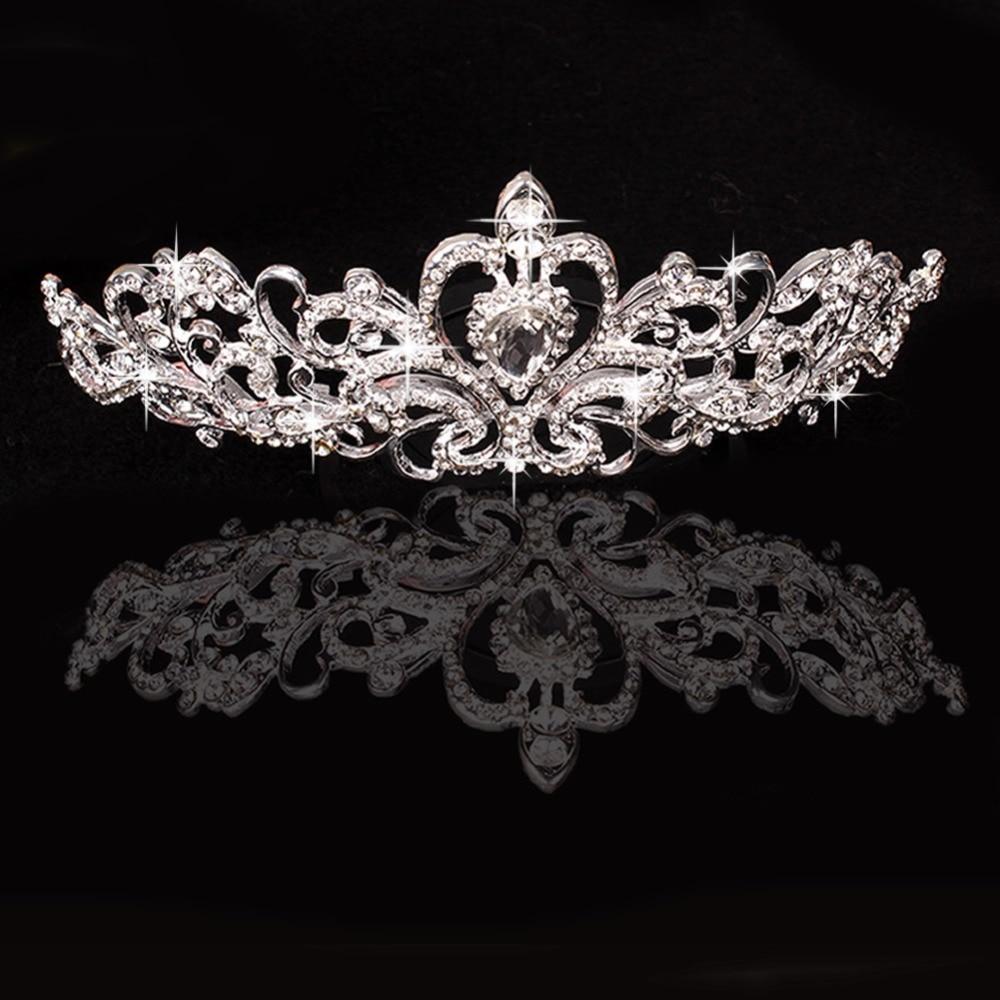 JAVRICK Bridal Princess Crystal Rhinestone Tiara Wedding Prom Crown Comb Veil Headband hair jewelry
