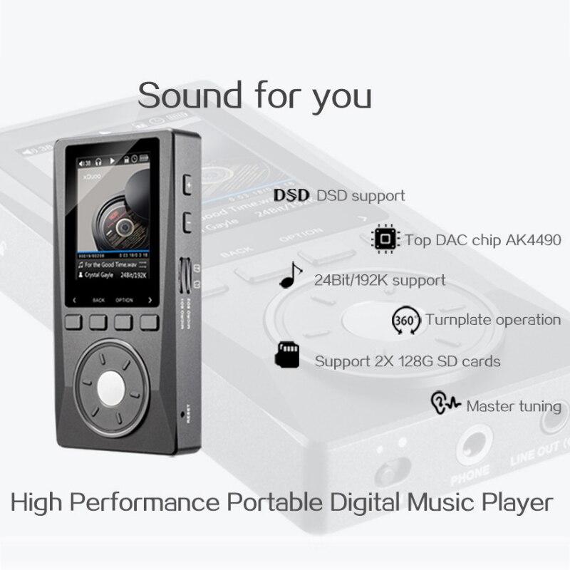 Image 2 - XDUOO X10 ハイファイポータブル高解像度ロスレス DSD 音楽プレーヤーアンプサポート光出力 24Bit/192 125khz OPA1612 pk X3music playerdap playerplayer music -