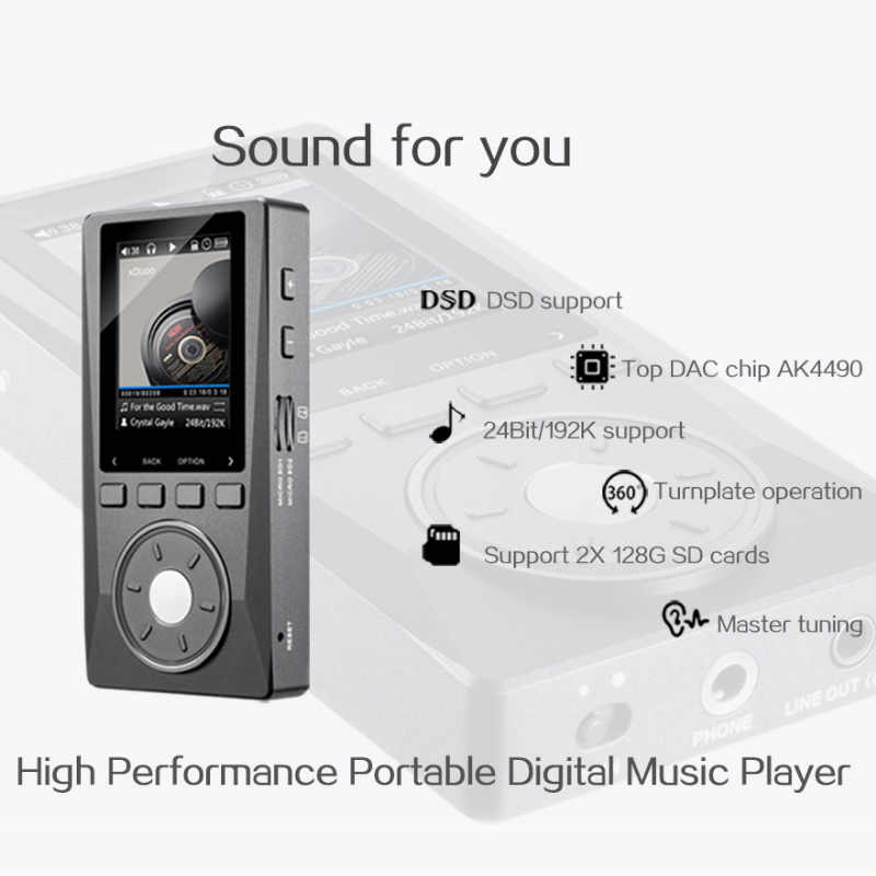 Image 2 - XDUOO X10 HIFI Portable Hi Res Lossless DSD Music Player AMP Support Optical Output 24Bit/192Khz OPA1612 pk X3music playerdap playerplayer music -