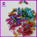 ( 1000pcs/lot Mix Color ) Colorful Hair Rings Dreadlock Beads Havana Mambo Beads Box Braid Beads Adjustable Hair Braid Cuff Clip